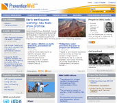 Preventionweb- building the resilience of nations and communities to disastersThumbnail